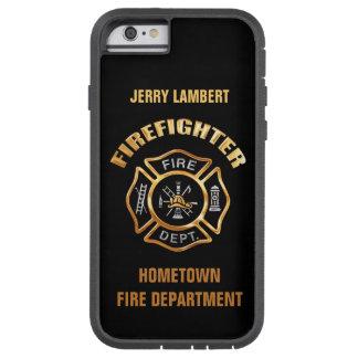 Modèle de nom d'or de corps de sapeurs-pompiers coque iPhone 6 tough xtreme