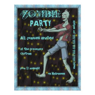 Modèle de partie de zombi pour prospectus personnalisés