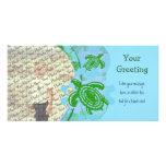 Modèle de PhotoCard de tortues vertes Cartes Avec Photo