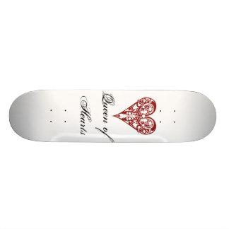 modèle de planche à roulettes, coeurs, reine des c skateboard customisable
