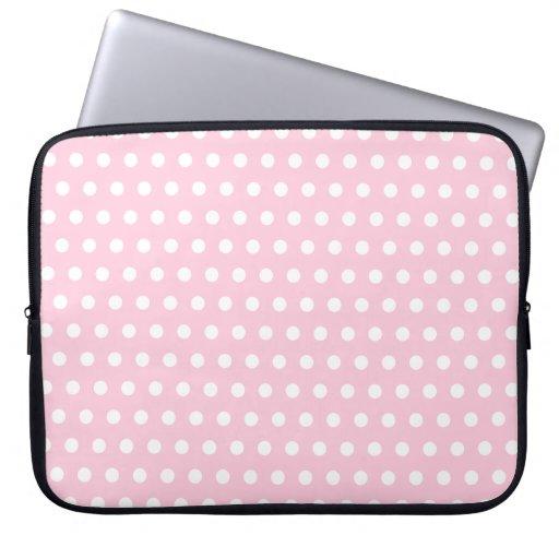 Mod le de pois rose et blanc housse ordinateur portable for Housse ordinateur portable