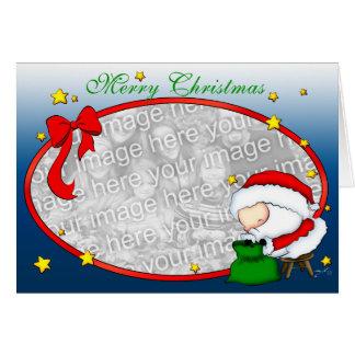 Modèle de présents de Père Noël Carte De Vœux