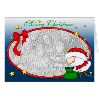Modèle de présents de Père Noël Cartes