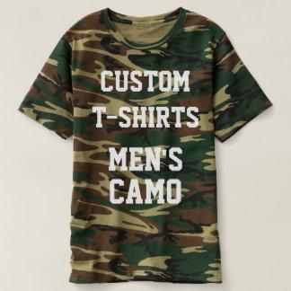 Modèle de T-SHIRT du CAMO des hommes personnalisés