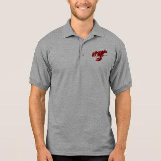 Modèle de T-shirt du polo des hommes de homard