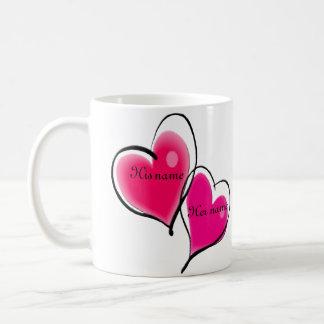 Modèle de tasse de deux coeurs