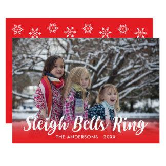 Modèle de vacances d'anneau de Sleigh Bells de Carton D'invitation 12,7 Cm X 17,78 Cm