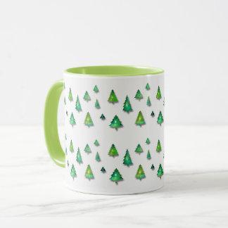 modèle de vert forêt mug