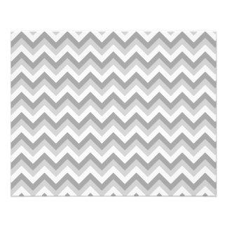 Modèle de zigzag gris et blanc prospectus 11,4 cm x 14,2 cm