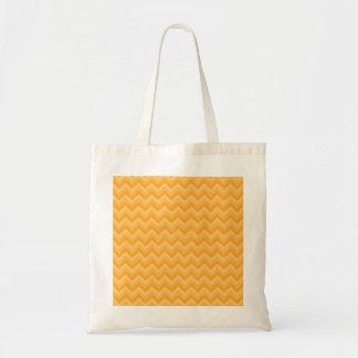 Modèle de zigzag jaune ensoleillé sacs fourre-tout