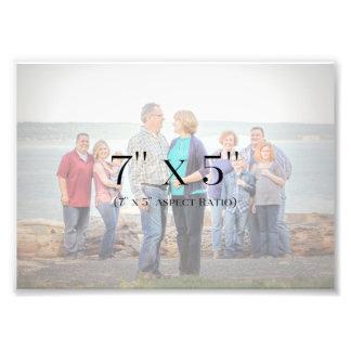 MODÈLE des photos de famille 7x5 Impression Photo