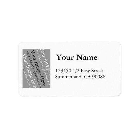 Modèle d'étiquette de adresse de photo grand étiquette d'adresse