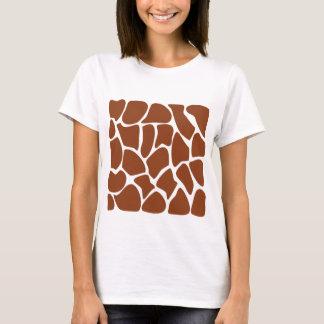 Modèle d'impression de girafe de Brown T-shirt