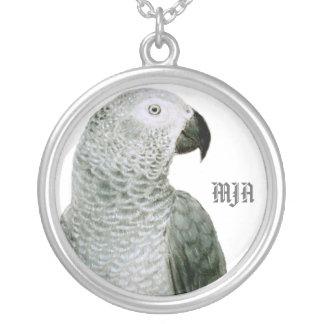 Modèle d'initiales de collier - perroquet