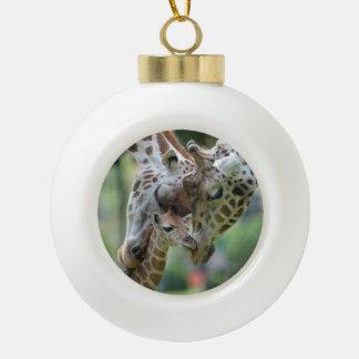Modèle d'ornement de girafe boule en céramique