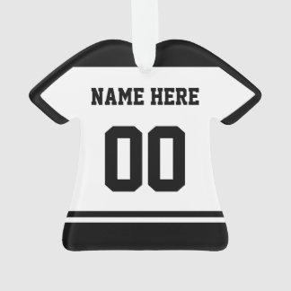 Modèle d'ornement de nom et de nombre du Jersey de
