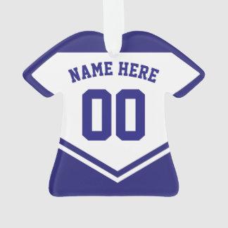 Modèle d'ornement de nombre de nom de chemise du