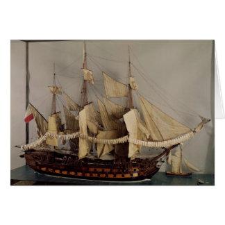 Modèle du bateau 'L'Achille Cartes