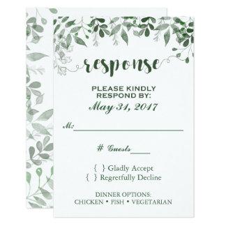 Modèle du faire-part de mariage RSVP de verdure