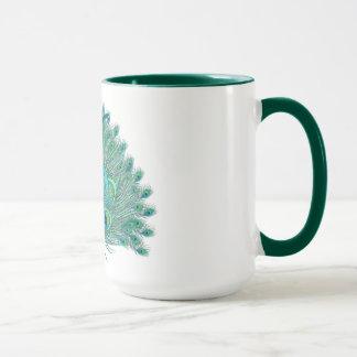 Modèle élégant de plume de paon du bonbon 16 mug