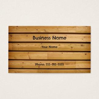 Modèle en bois de carte de visite de planche