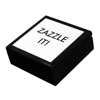 Modèle en bois personnalisé par coutume de blanc grande boîte à bijoux carrée