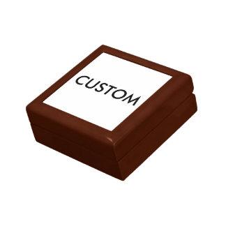 Modèle en bois personnalisé par coutume de blanc petite boîte à bijoux carrée