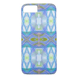 modèle ethnique bleu de fractale coque iPhone 7