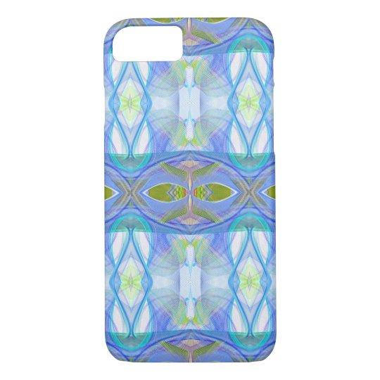 modèle ethnique bleu de fractale coque iPhone 8/7