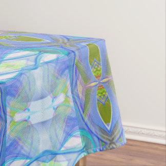 modèle ethnique bleu de fractale nappe