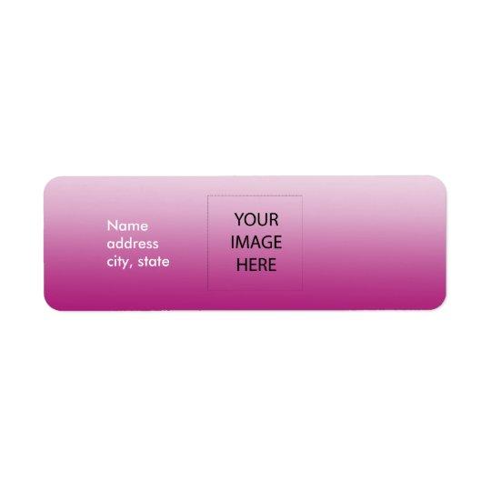 Modèle facile de rose de plaine de PixDezines Étiquette D'adresse Retour