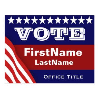 Modèle fait sur commande d'élection de campagne carte postale