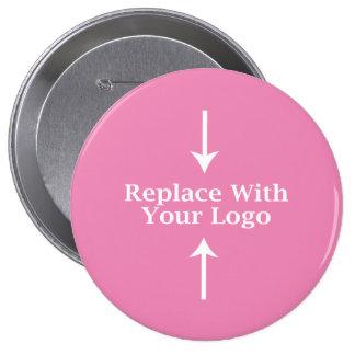 Modèle féminin rose de bouton de logo badges