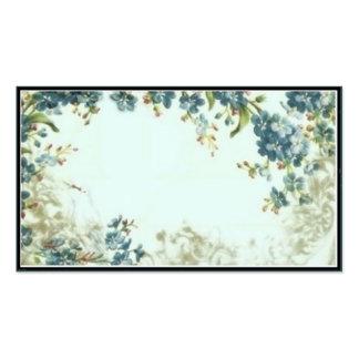 Modèle floral bleu victorien de carte de visite