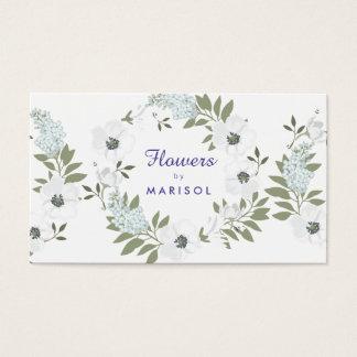 Modèle floral de carte de visite de fleuriste de