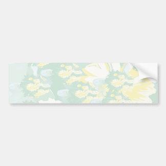Modèle floral de vert jaune de Lightshade Autocollant Pour Voiture