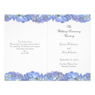 Modèle floral plié de programme de mariage de lune prospectus 21,6 cm x 24,94 cm