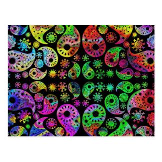 Modèle génial coloré de Paisley Carte Postale