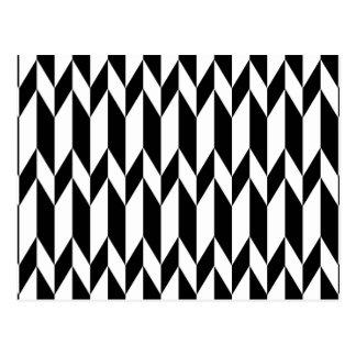 Modèle graphique abstrait noir et blanc cartes postales