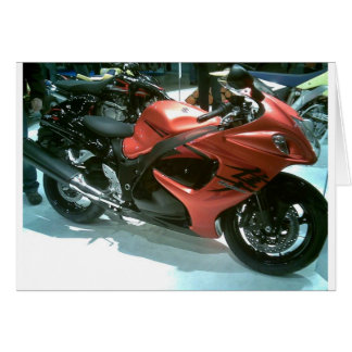 modèle-hayabusa-motocyclette 2008 carte de vœux