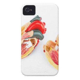 Modèle humain de coeur d'isolement sur l'arrière - coques iPhone 4 Case-Mate