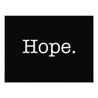 Modèle inspiré noir et blanc de citation d'espoir photographe