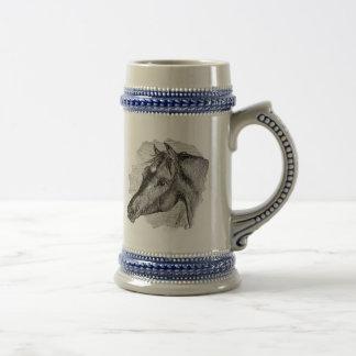 Modèle intelligent vintage de cheval chope à bière