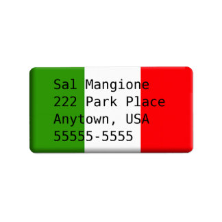 Modèle italien beau de l'étiquette de adresse de étiquette d'adresse