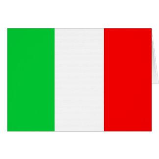 Modèle italien de drapeau carte de vœux