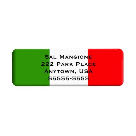 Modèle italien d'étiquette de adresse de retour de étiquettes d'adresse retour