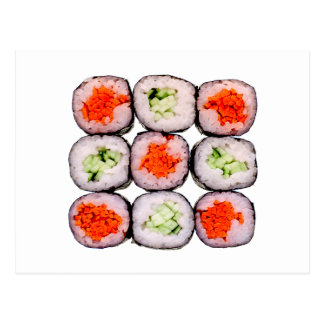 Modèle japonais de nourriture de Rolls de sushi Cartes Postales