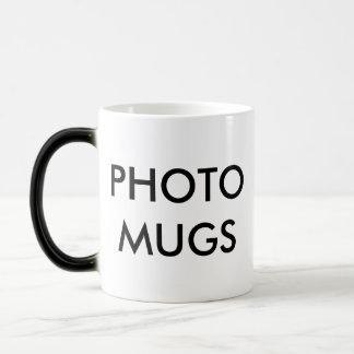 Modèle magique de blanc de tasse de photo