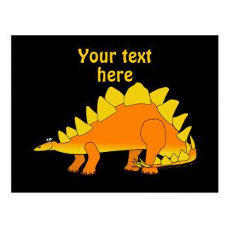 Modèle mignon de bande dessinée de dinosaure de carte postale