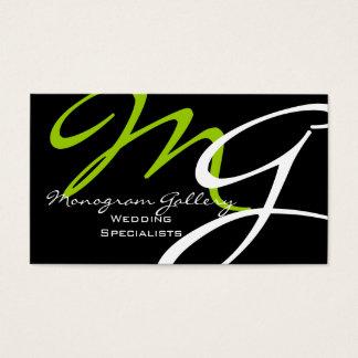 Modèle moderne de carte de visite de monogramme